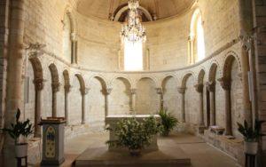Eglise de Lacommande, vue sur le chœur.