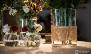 Décoration fleurie salle coq en pate