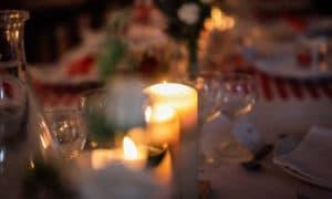 Décoration de table ambiance nocturne